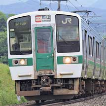 719系,磐越西線で定期列車を代走