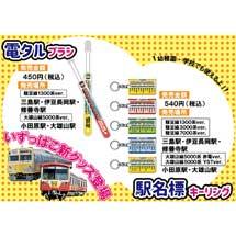 伊豆箱根鉄道,「電タルブラシ」「駅名標キーリング」を発売