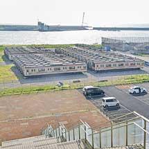 新潟東港で205系が留置される