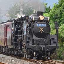 秩父鉄道C58 363に青地のナンバープレート