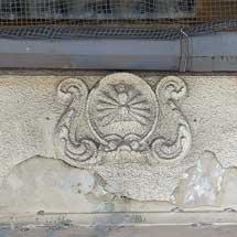 玉造駅高架下の動輪マーク彫刻が姿を消す