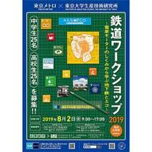 8月2日東京メトロ・東京大学生産技術研究所「鉄道ワークショップ2019」開催