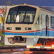 近江鉄道700形が陸送される