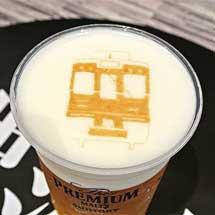「阪急電車デザインの神泡アート」無料サービス実施