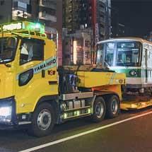 神戸市交 3000形3123編成が陸送される