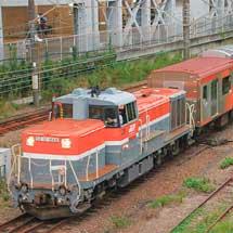 東急デハ6300形2両が甲種輸送される
