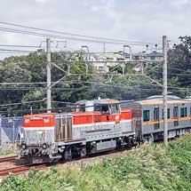 京成3100形3151編成が甲種輸送される
