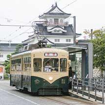 富山地方鉄道環状線にデ7022「レトロ電車」が入線