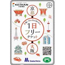 「京阪・Osaka Metro 1日フリーチケット」発売