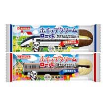 京成・山崎製パン「ホイップクリームロール」発売
