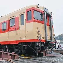 津山まなびの鉄道館にてキハ58 563の転車台回転実演イベント開催