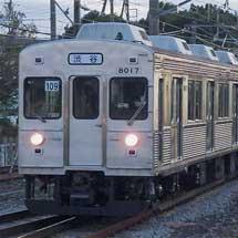 伊豆急行で無ラッピングの8000形を使用した団体臨時列車運転