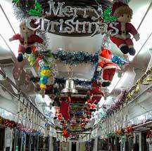 上毛電鉄で「クリスマストレイン」運転