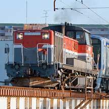 南海8300系4両が甲種輸送される