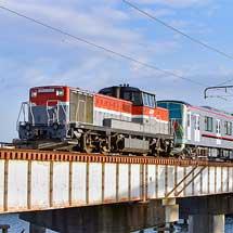 東武70090形71791編成が甲種輸送される