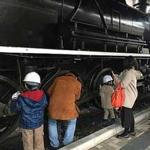 12月28日九州鉄道記念館「SL 59634号・展示実物車両すす払い」実施