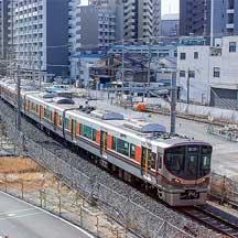 梅田貨物線に323系が入線