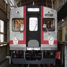 1月15日〜2月16日養老鉄道,7700系TQ14編成デビューにあわせて記念系統板を掲出