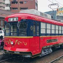 長崎電気軌道207号車が新塗装に