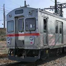 2月14日〜3月15日養老鉄道,「7700系車両移籍完結記念系統板」を掲出