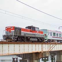 東武70090形71792編成が甲種輸送される