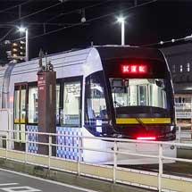 富山地鉄市内線と富山港線接続部の乗務員習熟運転開始