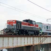 東武70090形71793編成が甲種輸送される
