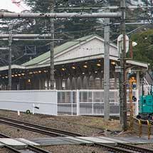 原宿駅皇室専用ホームにフェンスが設置される