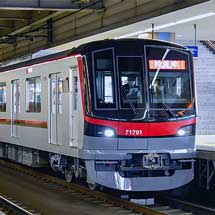 東武70090形による試運転が続く