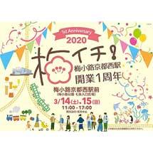 3月14日・15日JR西日本,『梅小路京都西駅開業1周年記念イベント「梅イチ!」』開催