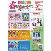 3月15日〜4月14日関東鉄道,常総線「春のお出かけ!キャンペーン」実施