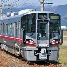 521系100番台が湖西線で試運転