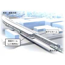 武蔵小杉駅の横須賀線下りホーム新設工事に着手