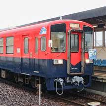 水島臨海鉄道MRT303のカラーリングが変更される