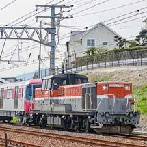 東京都交通局12-600形12-771編成が甲種輸送される