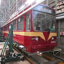 筑豊電鉄,3000形1編成を通称「赤電」塗装に変更