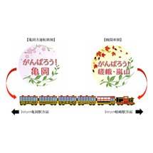 嵯峨野観光鉄道,「がんばろう!嵯峨・嵐山」「がんばろう!亀岡」ヘッドマークを掲出