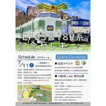 7月11日碓氷峠鉄道文化むらで「EF63&189系記念セレモニー」開催
