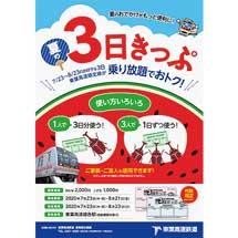東葉高速鉄道「夏の3日きっぷ」を発売