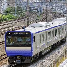 E235系1000番台F-01編成が東海道本線で試運転