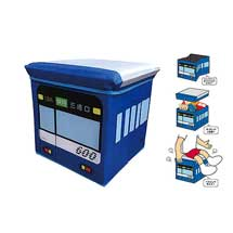 京急「ケイキューブ収納BOX 600形/BLUE」「けいきゅん低反発クッション」発売