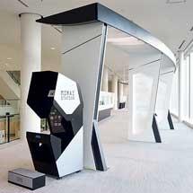鉄道博物館で「3D案内AIサイネージ」の展示