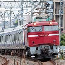 E531系K453編成が秋田総合車両センターへ