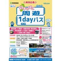 伊豆箱根鉄道,「いずっぱこ周遊1dayパス」発売