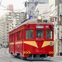 筑鉄赤電カラーのモ162号が通常の営業運転を開始
