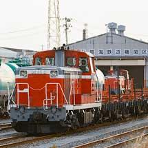 仙台レールセンター所属の定尺レール輸送車が郡山総合車両センターへ