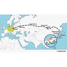 阪急阪神エクスプレス,シベリア鉄道を利用する「Sea & Rail 定期混載サービス」を2021年1月から開始