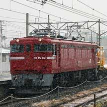 JR東日本仙台レールセンターのロングレール輸送車が郡山へ