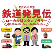 「元気です!千葉『鉄道発見伝』ローカル線スタンプラリー」開催