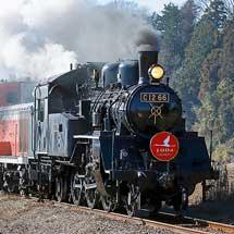 真岡鐵道でC12とDE10の重連運転実施